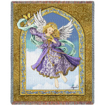Lavender Angel - Tapestry Throw