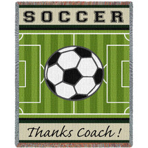 Sports - Soccer - Thanks Coach - Tapestry Throw