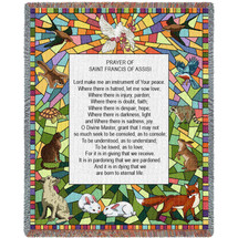 Prayer of St Francis of Assisi - Tapestry Throw