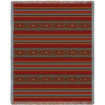 Saddleblanket - Red - Tapestry Throw