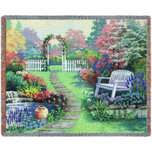 Loved One Garden Bench - Tapestry Throw