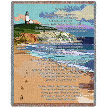 Jesus Footprints in the Sand - Sympathy - Tapestry Throw