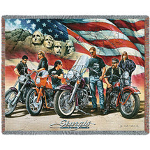 State of South Dakota - Sturgis - Tapestry Throw