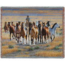 Bringing Them In - Cynthie Fisher - Cotton Woven Blanket Throw - Made in the USA (72x54) Tapestry Throw
