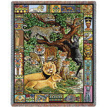 Venerable Cats - Tapestry Throw