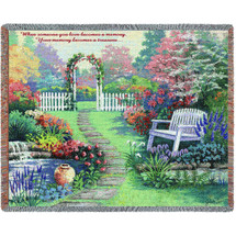 When Someone You Love Becomes A Memory - Sympathy - Tapestry Throw