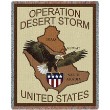 US Operation Desert Storm - Tapestry Throw