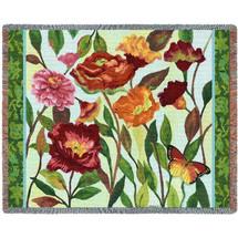 Poppy Garden - Tapestry Throw