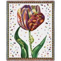 Confetti Tulip - Tapestry Throw