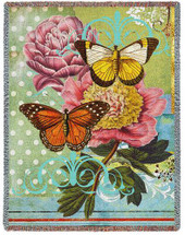 Butterfly Floral - Tapestry Throw