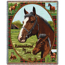 Thoroughbred - Tapestry Throw