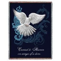 Carried to Heaven on Wings of a Dove - Sympathy - Tapestry Throw