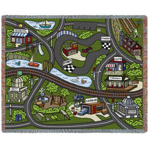 Road Play Mat - Pink - Tapestry Throw