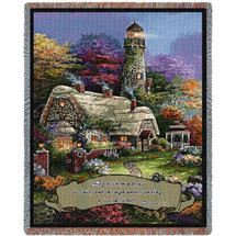 Heavens Light - By wisdom a house is built and by understanding it is established - Scriptures - Proverbs 24:3-4 - Tapestry Throw