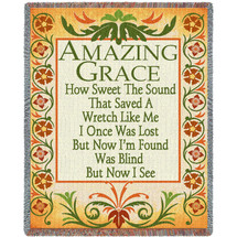 Amazing Grace How Sweet The Sound - Sympathy - Tapestry Throw