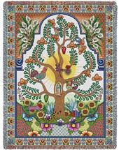 Arboles de la Vida - Tree of Life -Our Lady Of Guadalupe - Nuestra Señora de Guadalupe - Symbol of Catholic Mexicans - Mexico - Tapestry Throw