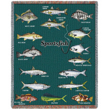 Florida Sport Fishing - Tapestry Throw