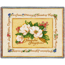 Magnolia Magnificence - Tapestry Throw