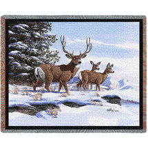 Mule Deer - Tapestry Throw