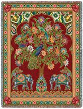 Asian Elephants - Tree of Life - Tapestry Throw
