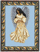 Guardian Angel and Baby 3 - Tapestry Throw