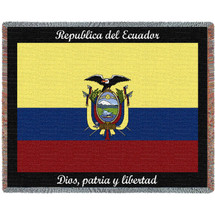 Ecuador Flag - Tapestry Throw