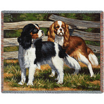 Fence Line Cocker Spaniel Bob Christie - Cotton Woven Blanket Throw - Made in the USA (72x54) Tapestry Throw