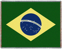 Brazil National Flag - Tapestry Throw