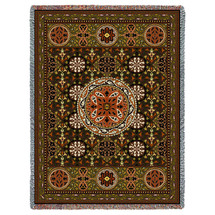 Gothic Medallion - Cotton Woven Blanket Throw - Made in the USA (72x54) Tapestry Throw