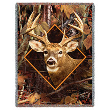 Deer in Camo - Tapestry Throw
