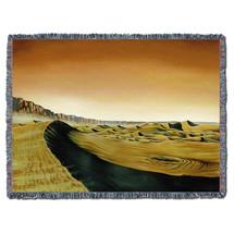 Valles Marineris Dunes - Kurt C Burmann - Cotton Woven Blanket Throw - Made in the USA (72x54) Tapestry Throw