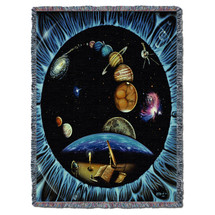 Galaxy Outer Space - Kurt C Burmann - Cotton Woven Blanket Throw - Made in the USA (72x54) Tapestry Throw