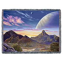 Pinnacle Peak Vista - Kurt C Burmann - Cotton Woven Blanket Throw - Made in the USA (72x54) Tapestry Throw