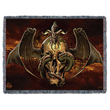 Dissent - Tom Wood - Cotton Woven Blanket Throw - Made in the USA (72x54) Tapestry Throw
