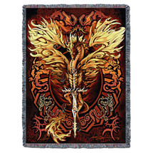 Flameblade - Ruth Thompson - Cotton Woven Blanket Throw - Made in the USA (72x54) Tapestry Throw