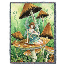 Among the Mushrooms - Tapestry Throw