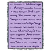Positive Word Hug - Lilac - Tapestry Throw