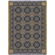 1845 Quilt Inspired - Blue - Afghan