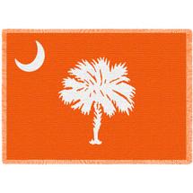 South Carolina State - Palmetto Moon Orange - Afghan