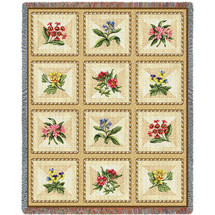 French Floral - Tapestry Throw