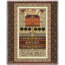 Home Sweet Home - Sampler - Tapestry Throw