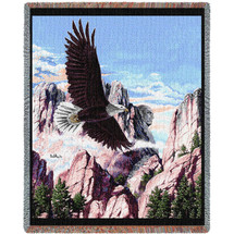 Let Freedom Ring - Eagle Mount Rushmore - Tapestry Throw