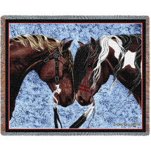 Warriors Truce Horses- Tapestry Throw