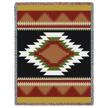 Espanola - Southwest Native American Inspired Tribal Camp - Cotton Woven Blanket Throw - Made in the USA (72x54) Tapestry Throw