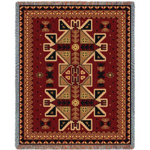 Paraguay - Cotton Woven Blanket Throw - Made in the USA (72x54) Tapestry Throw