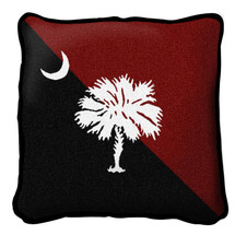 South Carolina - Palmetto Moon Red and Black - Pillow