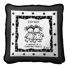 Sisters Hugging by Marci Pillow
