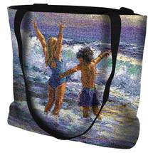 Surf Dancers - Beach Scene - Tote Bag