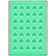 Shamrock Green Natural Blanket Afghan