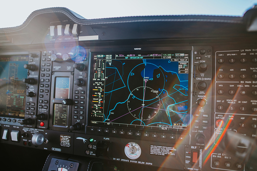 technology display in aviation